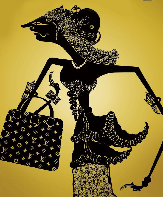 Wayang n LV. #indonesia #shadowpuppet lol, love the baggage