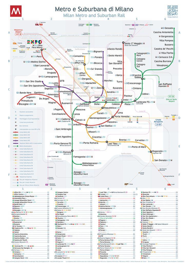 Milan Metro Map  _____________________________ Bildgestalter http://www.bildgestalter.net