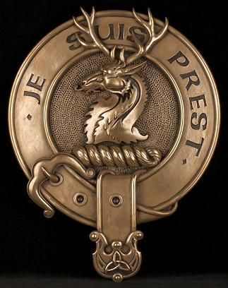 Clan Fraser of Lovat Cold Cast Bronze Wall Plaque