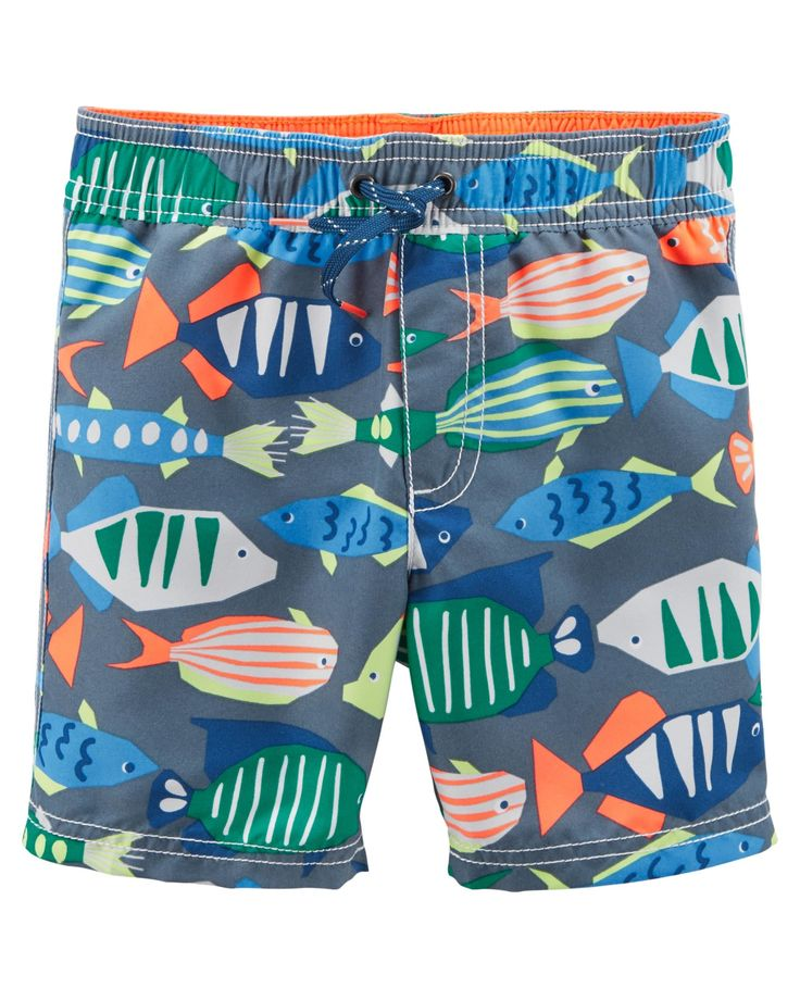 1282 best 0 patterns and print childrens cute creatures for Fishing swim trunks