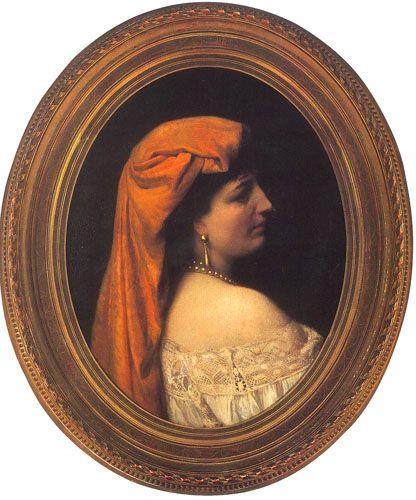 Dama de Perfil,  Óleo sobre tela 75 x 90 cm Ministerio de Relaciones Exteriores, Chile