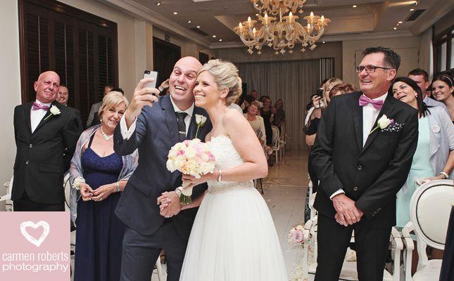 Carmen Roberts Photography, Warren and Kylie Wedding 1, Wedding Selfie.