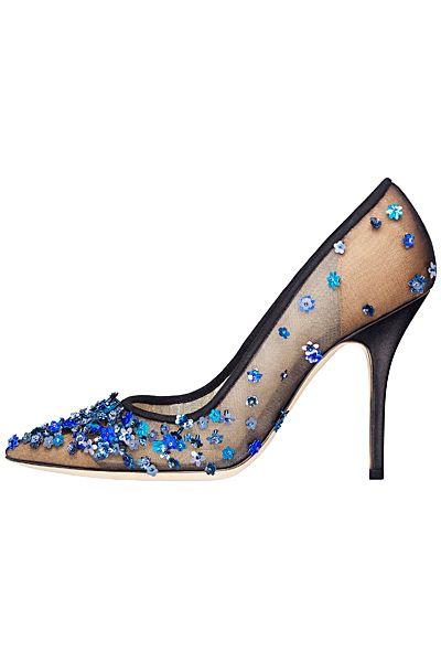 Dior Flower Embellished Evening Pumps Fall-Winter 2014 #Shoes #Heels #Dior