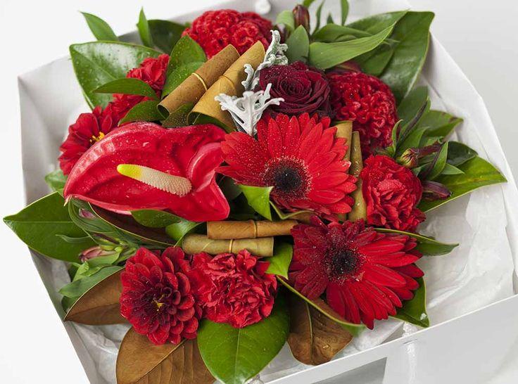 Red Flower Box - Expressions Florist Cambridge & Hamilton NZ