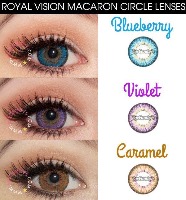 Royal Vision Macaron circle lenses cosmetic colored contacts