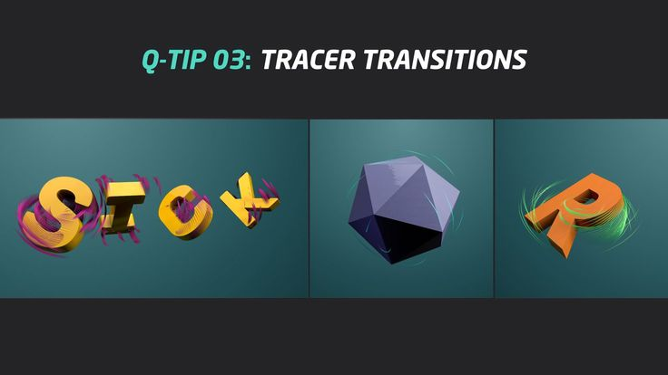 QUICK TIP 03: TRACER TRANSITIONS. Maybe this tip is simply and easy but can give us differents ways to create transitions between two object...