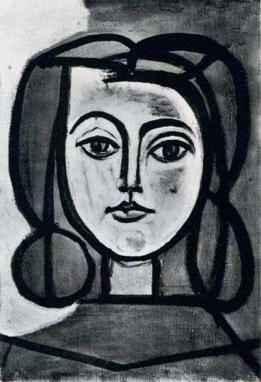 Pablo Picasso. Tête de femme. 1946 year, francoise