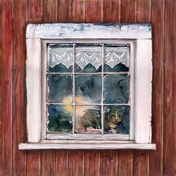 """Holy Night"" -Painting - mix technique by Anna Miarczynska"
