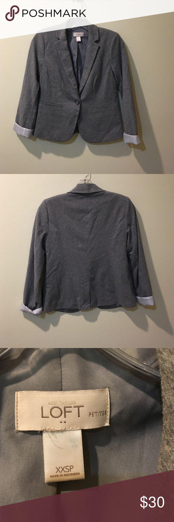 BNWOT Loft Grey Jersey Blazer Petite Size Grey LOFT Jersey Blazer Siz XXSP LOFT Jackets & Coats Blazers