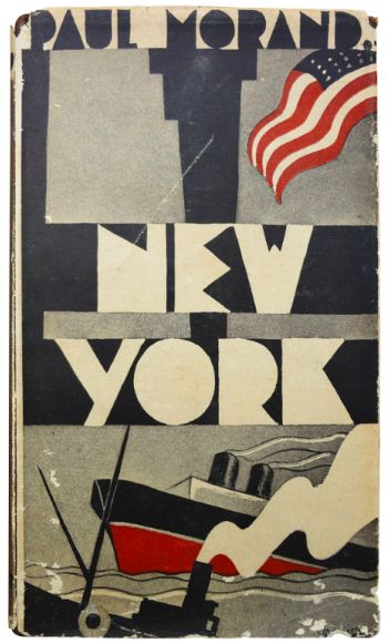 "«Paul Morand book cover for ""New York"" (1930)»."