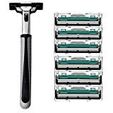 2016 Fashion Bladesystem Men Face Shaving Blades Manual Razor Blade Shavers 6Pcs Reviews
