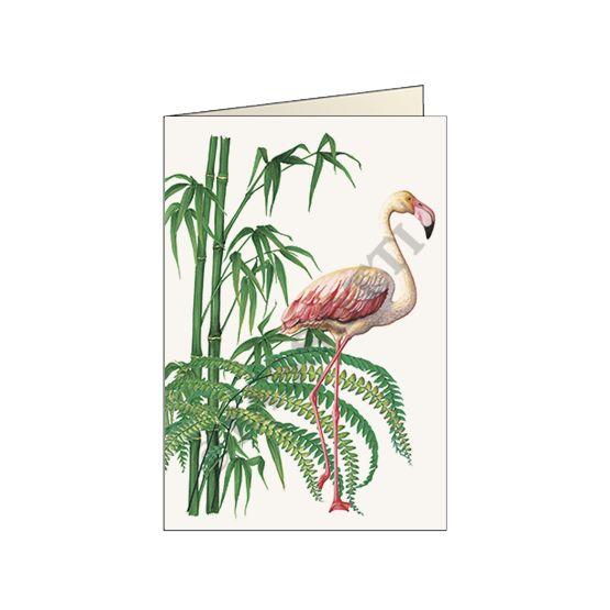 """Biglietto """"Fenicottero"""" - Card """"Flamingo"""" 11,5x16,8 cm"""