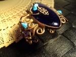 Murano glass , turqoise & antique copper wire