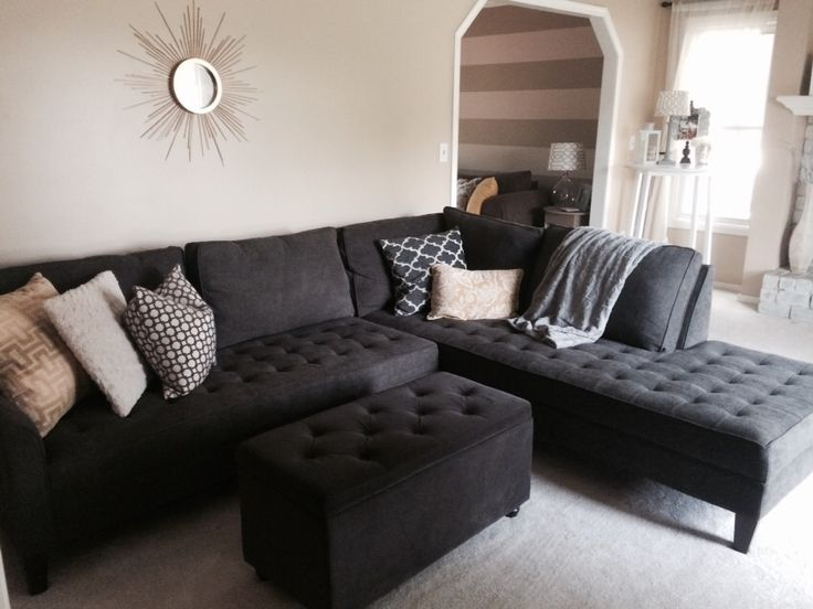 Best Charcoal Sectional Couch Home Decorating Pinterest 400 x 300