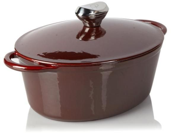 Wolfgang Puck 7qt Cast Iron Oval Covered Dutch Oven with Self-Basting Lid - $79.95
