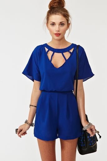 romper romper romper: Cutout, Fashion Clothing, Cobalt Blue, Royals Blue, Cute Rompers, Something Blue, Cute Outfit, Electric Blue, Cut Outs