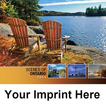 2014 Scenes of Ontario Promotional Wall Calendars - Cover Image - Personalize your Wholesale Scenes of Ontario Wall Calendar with your Company, Organization or Event Name, Logo and Message for as little as 65¢