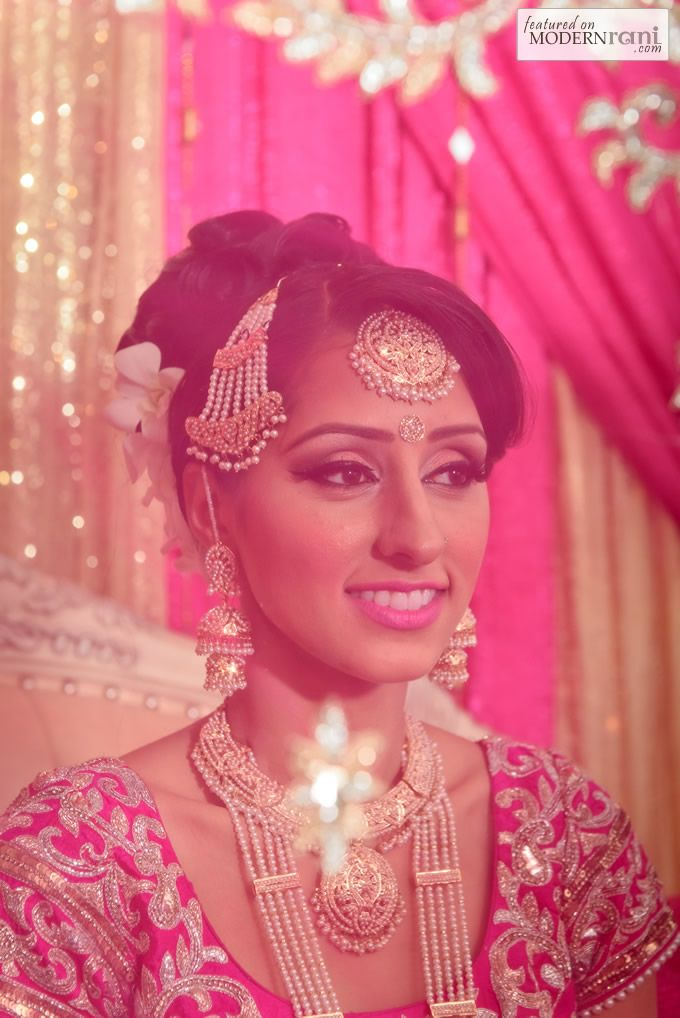 Pearl South Asian Indian Wedding Bridal Jewellery Rani Haar - more inspiration at http://www.ModernRani.com
