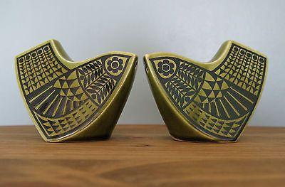 JOHN CLAPPISON Cruet Set BIRDS Salt & Pepper Pots HORNSEA British POTTERY 70s | eBay