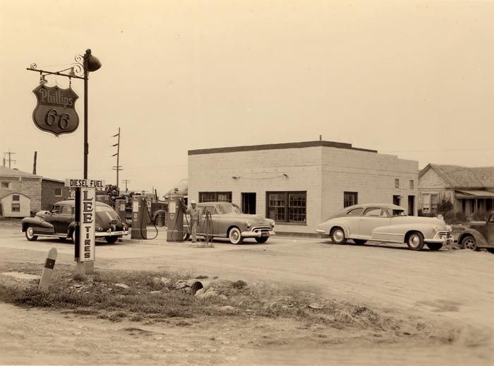 This is a picture of an old gas station taken in the 1940's. The station belonged to the man standing by the pump. He would wash your windshield, check your oil, and check your tire pressure as he filled your car with gas. I have to admit that I am often nostalgic for the old days where Mom and Pop businesses took pride in their premium customer service. Something has been lost when those working in stores are minimum wage students, who really don't care at all about the customer or the job…