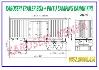 INFO HARGA >> PEMBUATAN TRAILER BOX - DINDING TERPAL SLIDING >> KAROSERI KENKA