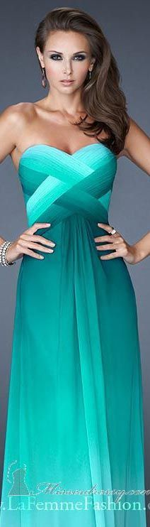 La Femme #long #formal #dress #strapless #green #elegant #evening #dresses