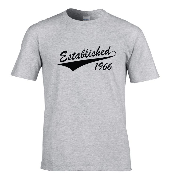 Low Price Tees Short Top O-Neck Established in 1966 50th Birthday Fiftieth Present Gift Apron T Shirt For Men