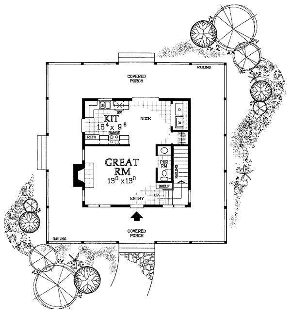 First Floor Plan Of Country Victorian House 90234