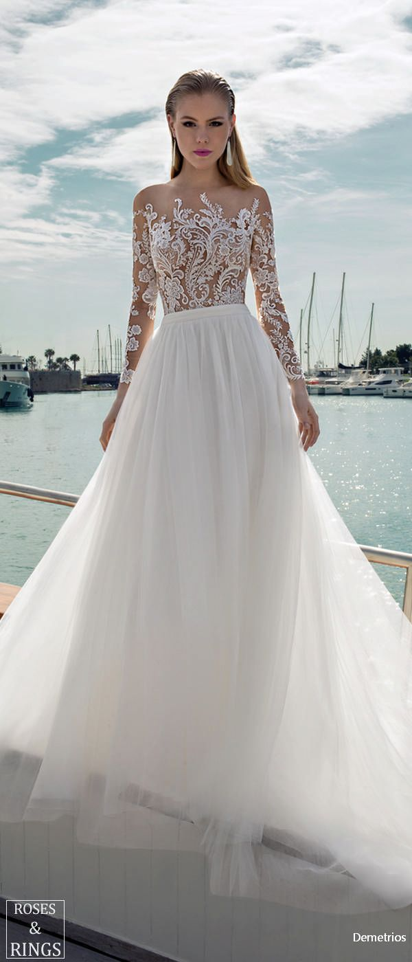 Demetrios Destination Beach Wedding Dresses 2019 Vow Renewal Ideas