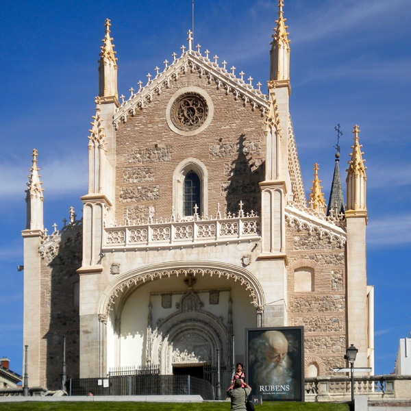 El antiguo Monasterio de San Jerónimo el Real. o más conocido como Iglesia de los Jerónimos Madrid España