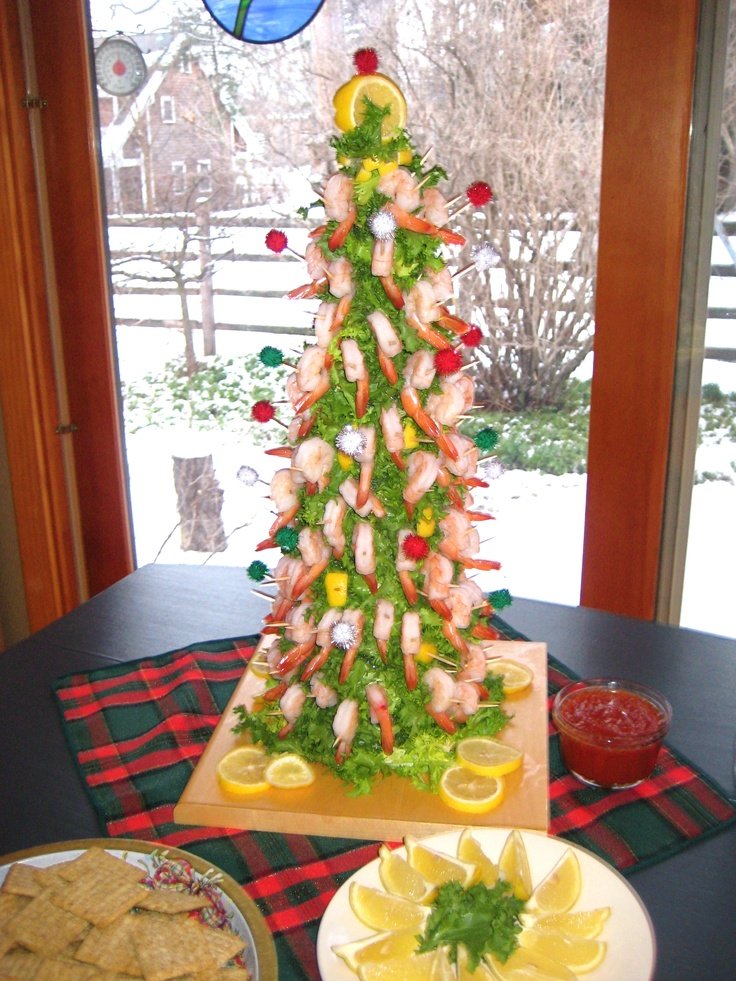Shrimp Tree | Food and drink | Christmas party finger ...