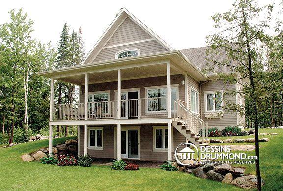 Plan de Maison/Chalet Unifamiliale W2939 de Dessins Drummond, un des plus populaires modèles à ce jour! Bon prix, parfaite pour un décor enchanteur!