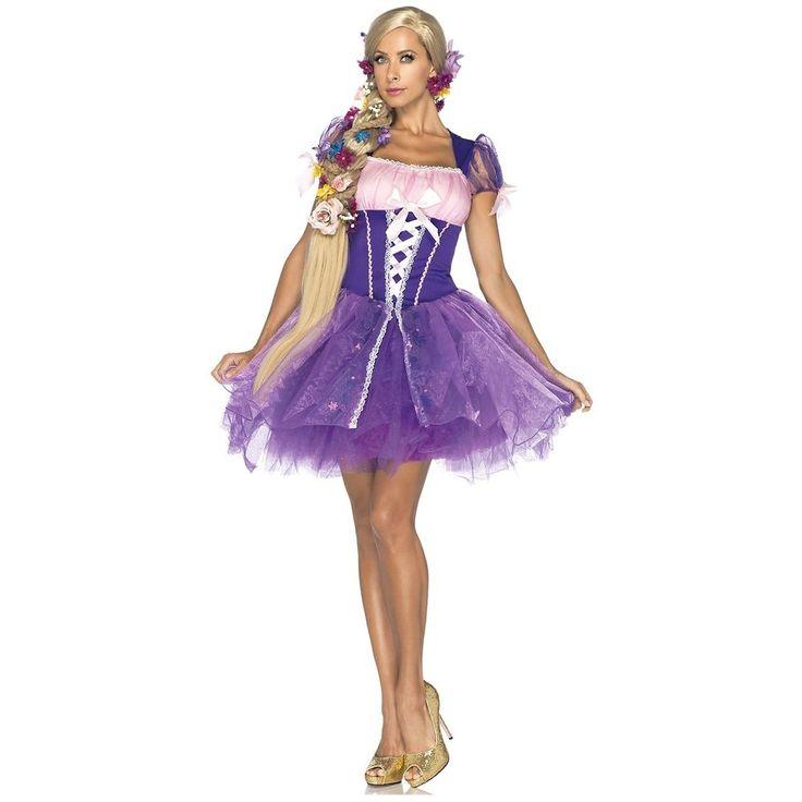Rapunzel Costume Adult Disney Princess Tangled Fairy Tale Halloween Fancy Dress #LegAvenueInc