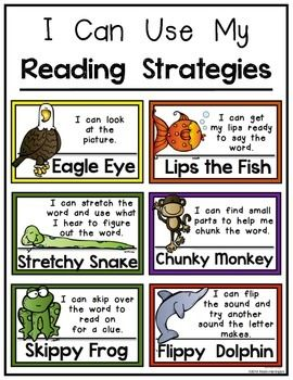 HEY READERS! MINI POSTER SET FOR READING STRATEGIES: KINDERGARTEN & FIRST GRADE - TeachersPayTeachers.com