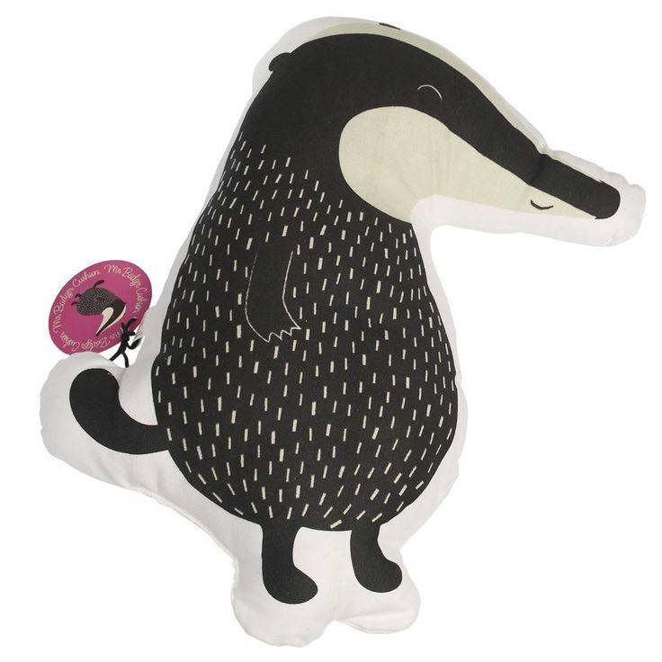 Mr Badger Cushion | dotcomgiftshop
