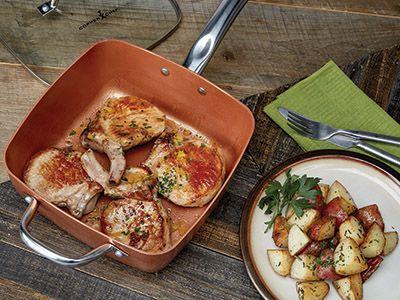 Stuffed Pork Chop Recipe | Copper Chef Cookware™