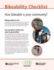 Community Bikeability Checklist
