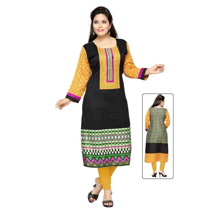 Kurtis: - with round neck neckline and 3/4 sleeves sleeves. perfect for casual wear.