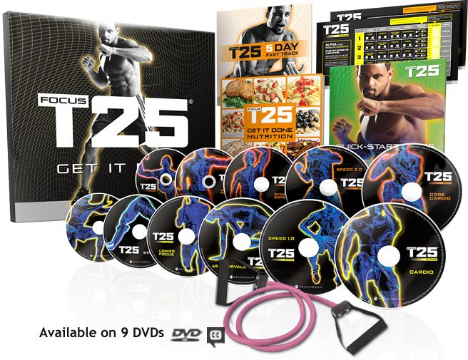 FOCUS T25 is Shaun T's new creation. He used every trick in his trainer's book to develop super efficient workouts that deliver an hour's worth of results from just 25 minutes of training.