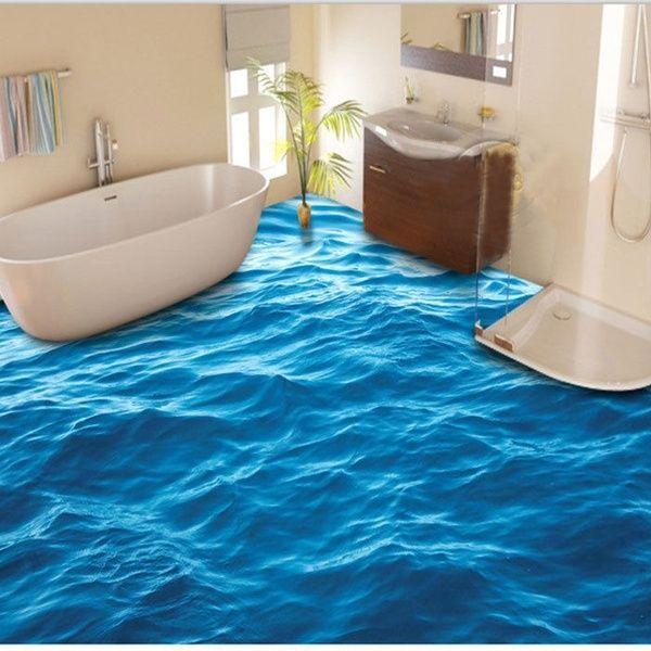 3d Friedlichen Blauen Meerwasser Boden Wandbild Foto Bodenbelag Wallpaper Print Home Decal Fur Bad Kuche Wo In 2020 Epoxit Boden Wasserfester Bodenbelag Pvc Bodenbelag
