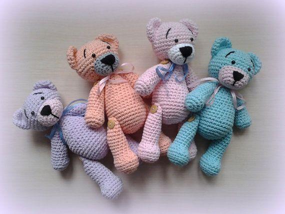 Crochet Teddy Sue Pastel by CrochetlandRV on Etsy