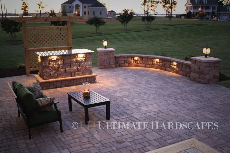 patio paver lights home design inspiration ideas and pictures