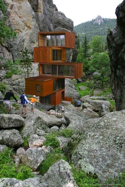 This unique house is made from shipping containers