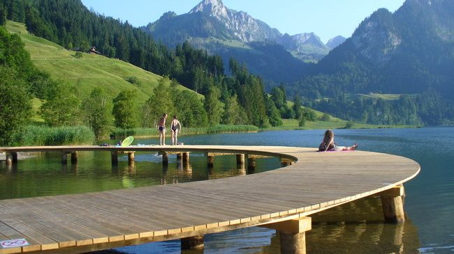 Top Places To Visit in Switzerland - Schwarzsee,Fribourg Region
