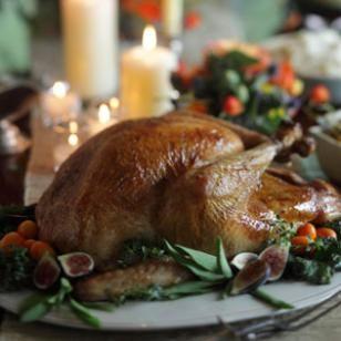 Michel Nischan's Roast Turkey with Potato Pan Gravy Recipe #thanksgiving
