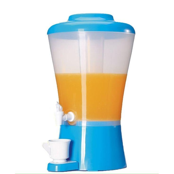 Palais Dinnerware Plastic Beverage Drink Dispenser with Ice (White) Tube