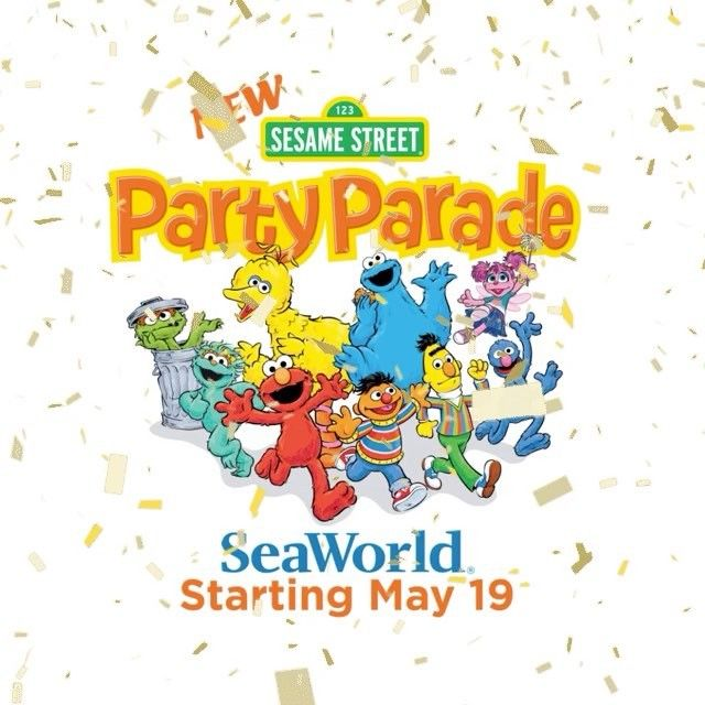 Sesame Street Party Parade at SeaWorld San Antonio begins May 19th
