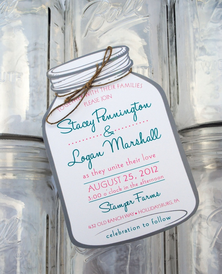17 Best images about 101015 – Mason Jar Wedding Invites