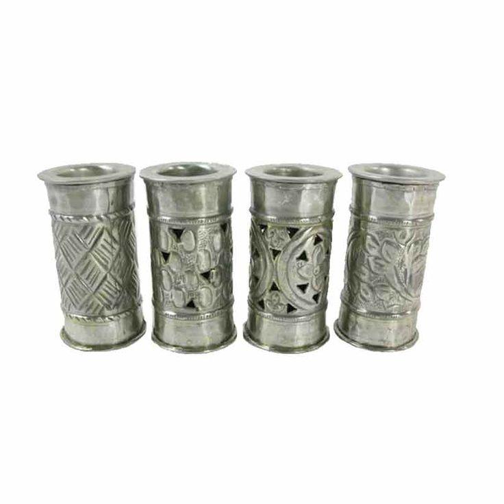 Gümüş İşlemeli Tekli Mumluk | -Mum/Mumluk | designstatehome.com