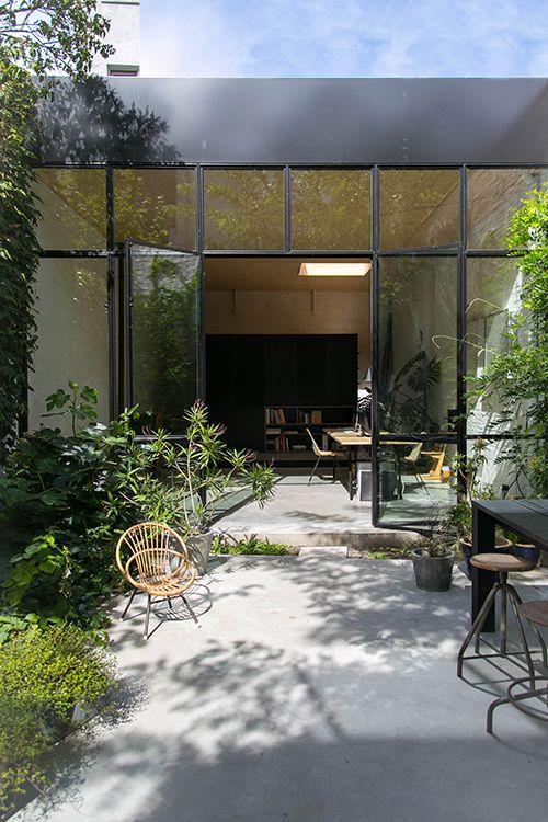 garden office steel windows